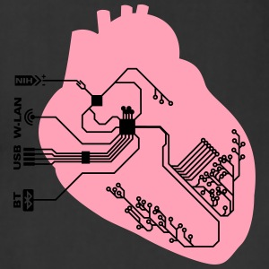 pacemaker heart implant T-Shirts - Adjustable Apron