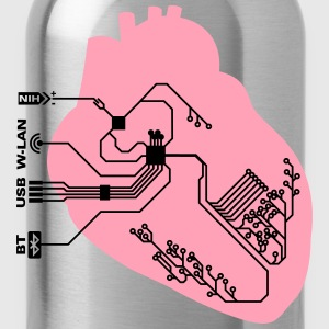 pacemaker heart implant T-Shirts - Water Bottle