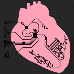 pacemaker heart implant T-Shirts - Men's Premium Long Sleeve T-Shirt