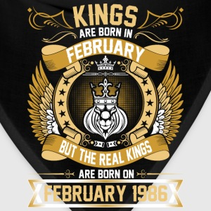 The Real Kings Are Born On February 1986 T-Shirts - Bandana