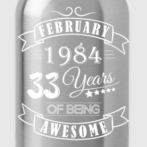 February 1984 33 Years of being awesome - Water Bottle