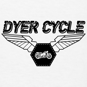 Dyer Cycle Wings Logo - Men's T-Shirt