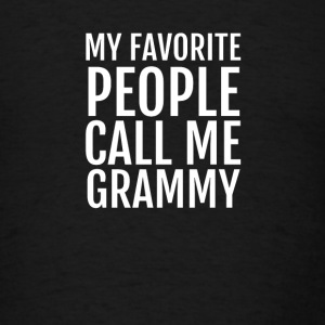 My favorite People call me Grammy Long Sleeve Shirts - Men's T-Shirt