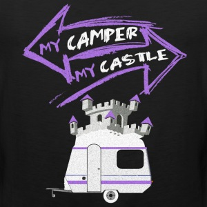 My Camper My Castle Traveling RV T Shirt T-Shirts - Men's Premium Tank