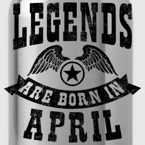 Legend Are Born in April T-Shirts - Water Bottle
