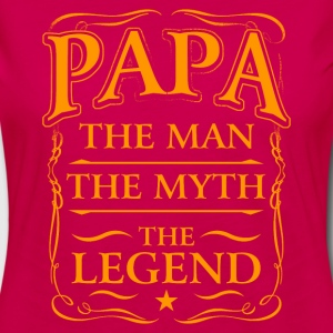 Fathers Day Shirt Papa The Man The Myth The Legend T-Shirts - Women's Premium Long Sleeve T-Shirt