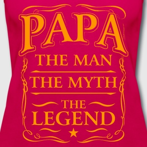 Fathers Day Shirt Papa The Man The Myth The Legend T-Shirts - Women's Premium Tank Top