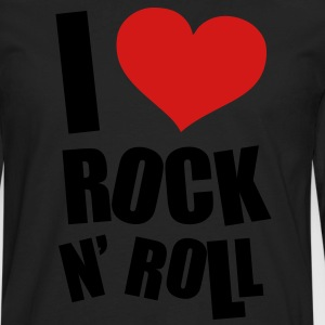 I Love Rock N Roll Hoodies - Men's Premium Long Sleeve T-Shirt