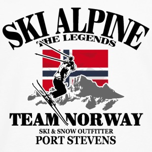Ski Team Norway T-Shirts - Men's Premium Long Sleeve T-Shirt