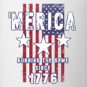4th Of July - Merica Running The Game Since 1776 T-Shirts - Coffee/Tea Mug