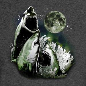 3 SHARK MOON T-Shirts - Men's Long Sleeve T-Shirt