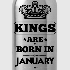 KINGS ARE BORN IN JANUARY T-Shirts - Water Bottle