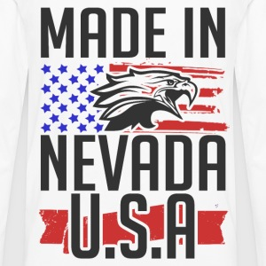 nevada 1.png T-Shirts - Men's Premium Long Sleeve T-Shirt