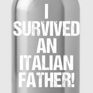 I Survived an Italian Father Funny Heritage Shirt T-Shirts - Water Bottle