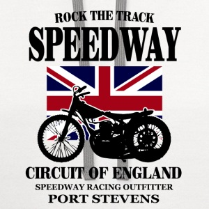Motorcycle Speedway - Dirt Track Racing T-Shirts - Contrast Hoodie