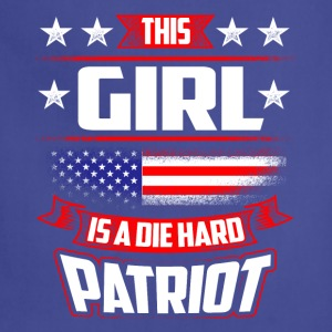 4th Of July This Girl Die Hard Patriot Shirt Gift T-Shirts - Adjustable Apron