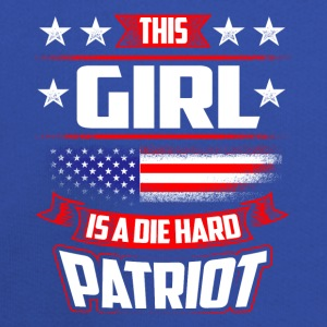 4th Of July This Girl Die Hard Patriot Shirt Gift T-Shirts - Kids' Premium Hoodie