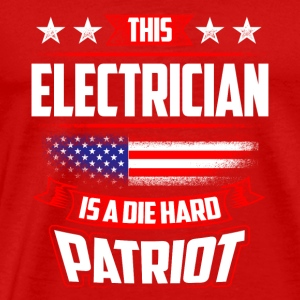 4th Of July Electrician Patriot Shirt Gift Tanks - Men's Premium T-Shirt