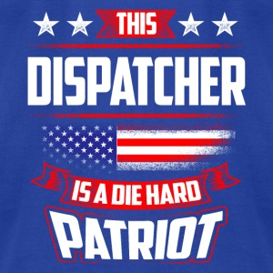 4th Of July Dispatcher Patriot Shirt Gift Tanks - Men's T-Shirt by American Apparel