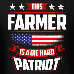4th Of July Farmer Die Hard Patriot Shirt Gift Sportswear - Men's T-Shirt