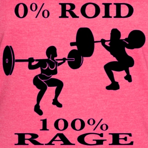 Female Strength Training 0% Roid 100% Rage - Women's Vintage Sport T-Shirt