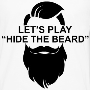 Let's Play Hide The Beard  ©WhiteTigerLLC.com   - Men's Premium Long Sleeve T-Shirt