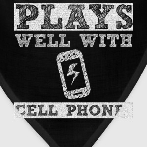 Plays Well with Cell Phones Technology Geek Shirt T-Shirts - Bandana
