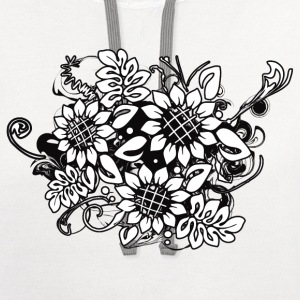 Sunflower_Growth - Contrast Hoodie