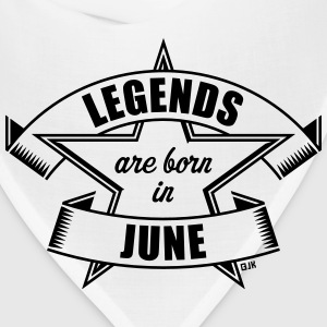 Legends are born in June (Birthday Present Gift) T-Shirts - Bandana