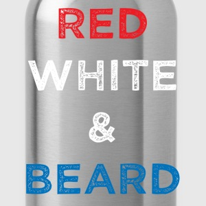 Red White and Beard Fourth of July T-Shirt T-Shirts - Water Bottle