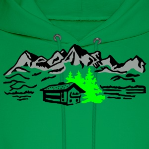 Mountain cottage forest T-Shirts - Men's Hoodie