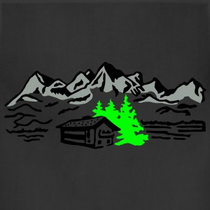 Mountain cottage forest T-Shirts - Adjustable Apron