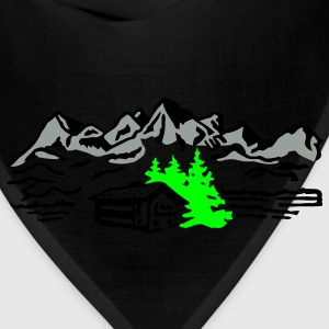 Mountain cottage forest T-Shirts - Bandana