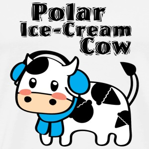Polar Ice-Cream Cow Badge - Men's Premium T-Shirt