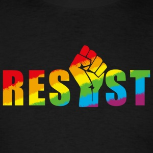 Resist LGBT Pride Rainbow  Tanks - Men's T-Shirt