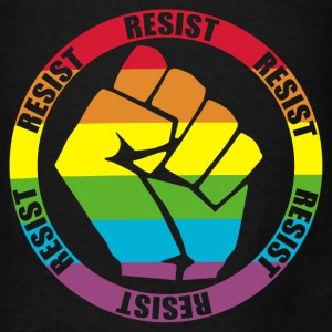 Resist Fist Rainbow Flag LGBT Bags & backpacks - Men's T-Shirt