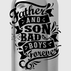 Father and Son Bad Boys T-Shirts - Water Bottle
