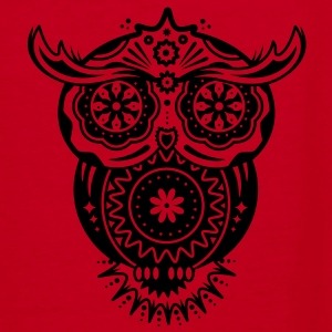 an owl with different decorations in the style of the Mexican Sugar Skulls Zip Hoodies/Jackets - Women's V-Neck T-Shirt