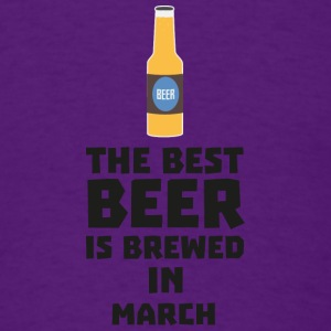 Best Beer is brewed in March Sp9fl Long Sleeve Shirts - Men's T-Shirt