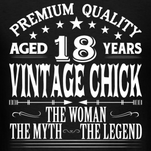 VINTAGE CHICK AGED 18 YEARS Tanks - Men's T-Shirt