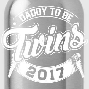Daddy To Be Twins 2017 T-Shirts - Water Bottle