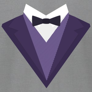 Violet Tuxedo Suit with bow tie S67ze Long Sleeve Shirts - Men's T-Shirt by American Apparel