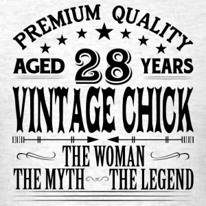 VINTAGE CHICK AGED 28 YEARS Tanks - Men's T-Shirt