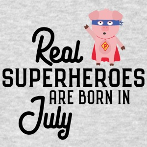 Superheroes-are-born-in-July So9em Sweatshirts - Men's T-Shirt