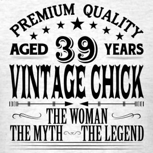 VINTAGE CHICK AGED 39 YEARS Tanks - Men's T-Shirt