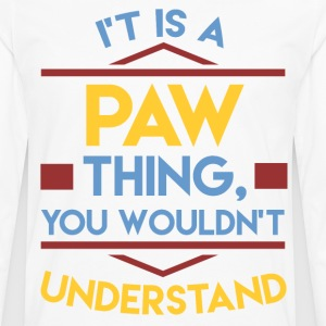 paw 1a.png T-Shirts - Men's Premium Long Sleeve T-Shirt