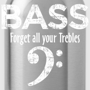 BASS - Forget all your Trebles T-Shirts - Water Bottle