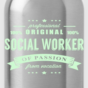 Social Worker Passion T-Shirt - Water Bottle