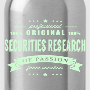 Securities Research Passion T-Shirt - Water Bottle