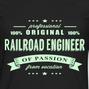 Railroad Engineer Passion T-Shirt - Men's Premium Long Sleeve T-Shirt